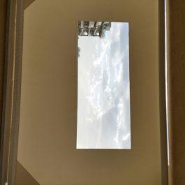 וילון מסך - מנגנון ידני עולה יורד משולב עם שקוף חלק