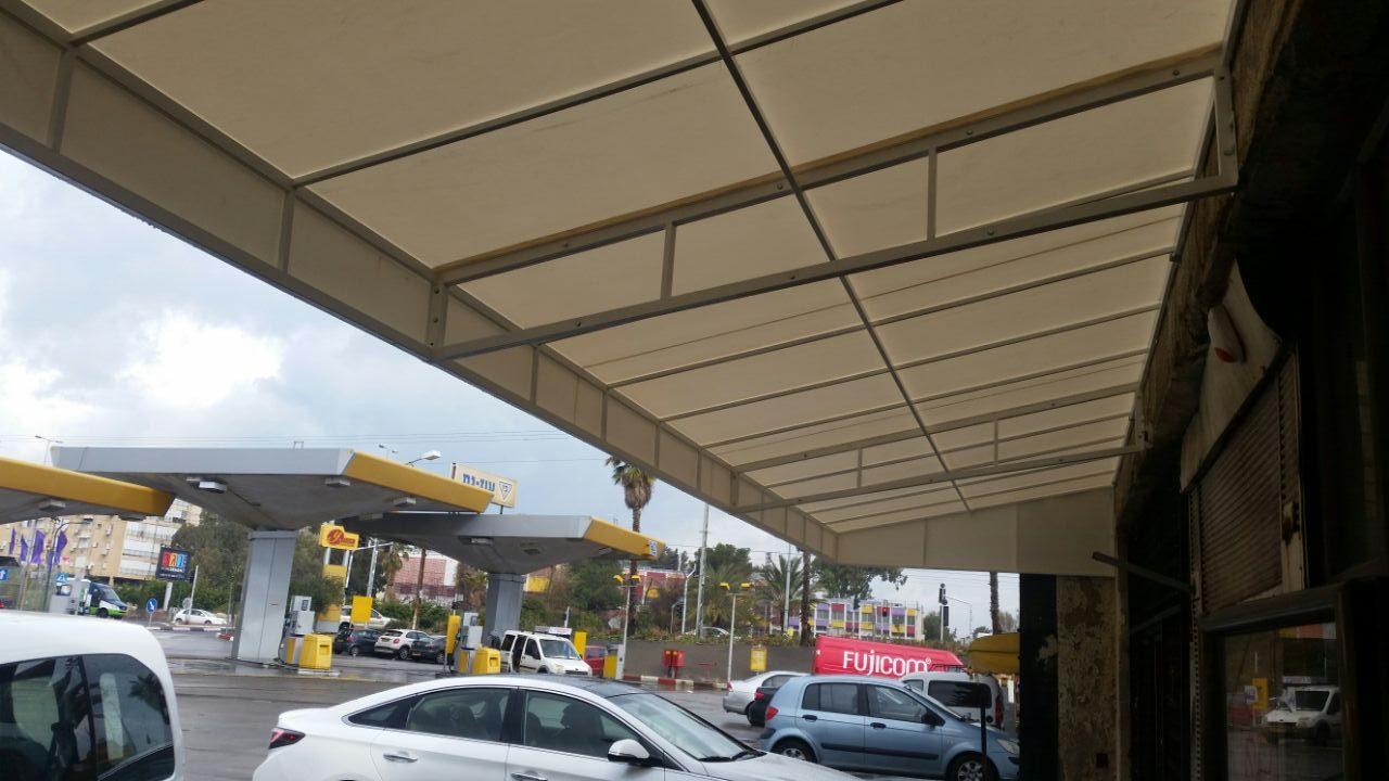 סככה קבועה בתחנת דלק בנתניה - אחרי
